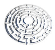 Virtual model of maze with enter Stock Images