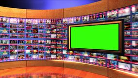 Virtual News Studio Set Green Screen