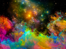 Virtual Painted World Stock Images