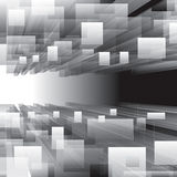 Virtual Perspective Background. Abstract grayscale virtual perspective background Royalty Free Stock Photos