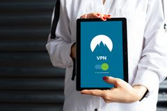 VPN for tablet royalty free stock images