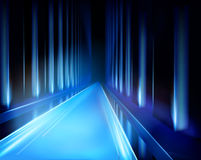 Virtual projection - tunnel. Vector illustration. Royalty Free Stock Photography