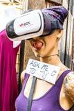 Virtual reaity box at Camden market Stock Photo