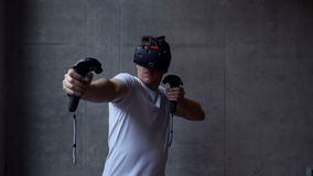 Virtual Reality Archery Simulation stock video footage