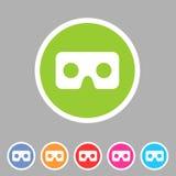 Virtual reality cardboard goggles glasses icon flat web sign symbol logo label Royalty Free Stock Photo