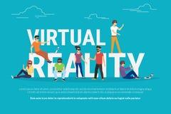 Virtual reality concept illustration Stock Photos