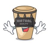 Virtual reality conga mascot cartoon style. Vector illustration vector illustration