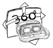 Virtual reality and 360 degree experience Royalty Free Stock Photo