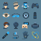 Virtual reality device set Royalty Free Stock Photos
