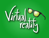 Virtual reality emblem Stock Photos