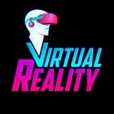 Virtual Reality emblem, headset vector modern illustration icon. Virtual Reality emblem, headset vector modern illustration icon - eps available royalty free illustration
