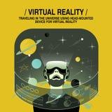 Virtual reality experience stock illustration