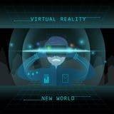 Virtual reality experience vector illustration