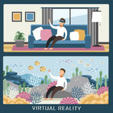 virtual reality experience Stock Images