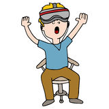 Virtual Reality Experience Man Royalty Free Stock Photography