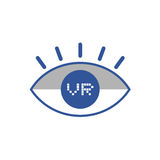 Virtual reality eye icon Stock Images