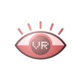 Virtual reality eye icon Stock Photography