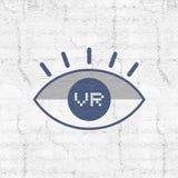 Virtual reality eye icon Stock Photo