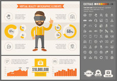 Virtual Reality flat design Infographic Template Royalty Free Stock Photos