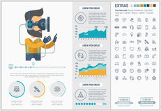 Virtual Reality flat design Infographic Template Royalty Free Stock Photography
