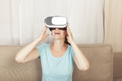 Virtual reality game Royalty Free Stock Images