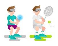 Virtual reality game vector illustration
