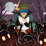 Virtual reality gaming royalty free illustration