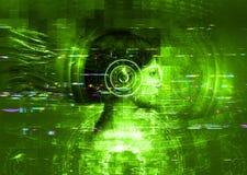 Virtual reality girl royalty free stock image