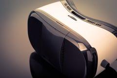 Virtual reality glasses on black Stock Photo