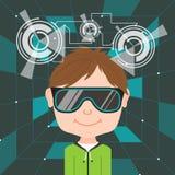 Virtual reality glasses Stock Image