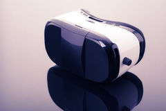 Virtual reality glasses on dark surface Royalty Free Stock Images