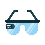 Virtual reality glasses icon Royalty Free Stock Image