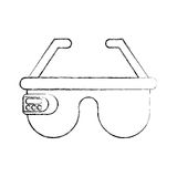 Virtual reality glasses icon Stock Images