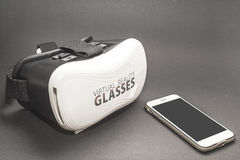 VIRTUAL REALITY - GLASSES AND PHONE VR Royalty Free Stock Image