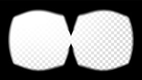 Virtual Reality Glasses Sight View Vector. Stereoscopic Screen Frame Template. Technology Design 3D VR Concept For Web. Virtual Reality Glasses Sight View Vector Royalty Free Stock Images