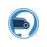 Virtual reality glasses symbol Royalty Free Stock Images