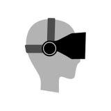 Virtual reality glasses symbol Stock Image