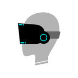 Virtual reality glasses symbol Royalty Free Stock Photos