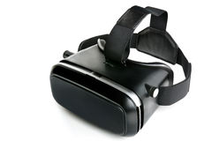 Virtual reality glasses Virtual reality goggles, white backgroun Royalty Free Stock Images
