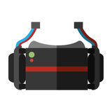 Virtual reality glasses wearable device shadow. Illustration eps 10 Stock Photography