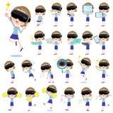 Virtual reality goggle women_2 Royalty Free Stock Photo