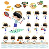Virtual reality goggle women_cooking Stock Photography