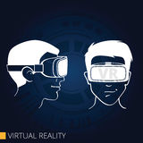 Virtual reality goggles. Vector drawing of 3d glasses virtual reality Royalty Free Stock Images