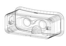 Virtual reality headset Architect Blueprint - isolated. Shoot Of The Virtual reality headset Architect Blueprint - isolated stock illustration