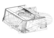 Virtual reality headset Architect Blueprint - isolated. Shoot Of The Virtual reality headset Architect Blueprint - isolated royalty free illustration