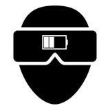 Virtual reality Headset Charge illustration Royalty Free Stock Photo