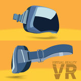 Virtual reality headset. Virtual reality glasses side view and full face Royalty Free Stock Photo