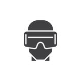 Virtual reality headset icon vector, vr glasses solid logo illus. Tration, pictogram isolated on white vector illustration