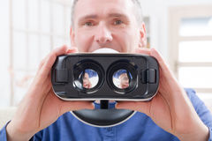 Virtual reality headset stock images