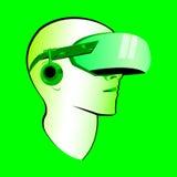 Virtual reality headset vector modern illustration Stock Photography